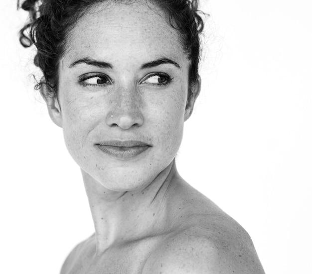 Portrait studio woman female model