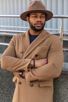 Portrait of stylish man wearing a nice hat