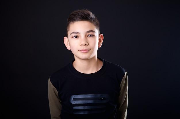 Portrait teenage boy