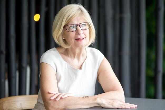 Portrait of thoughtful senior businesswoman
