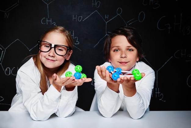 Portrait of two excellent students