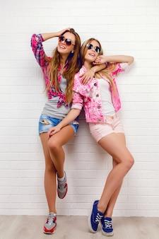 Portrait of two friends posing