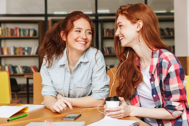 Portrait of a two happy teenage girls