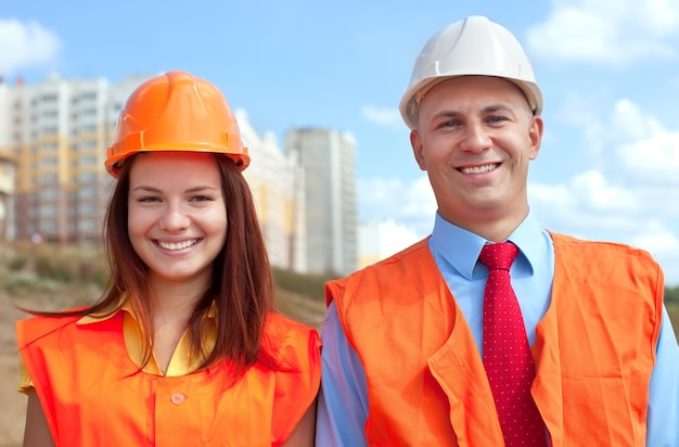 Portrait of two white-collar workers