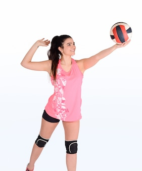 Portrait of volleyball woman.