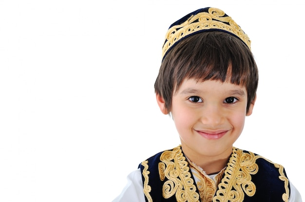 Portrait of a well-dressed middle-eastern kid