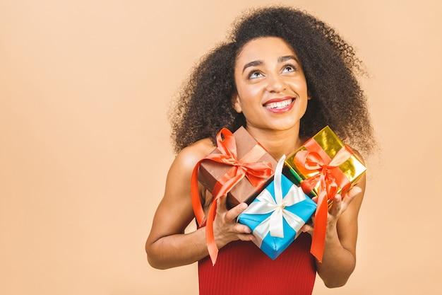 Портрет женщины с подарками