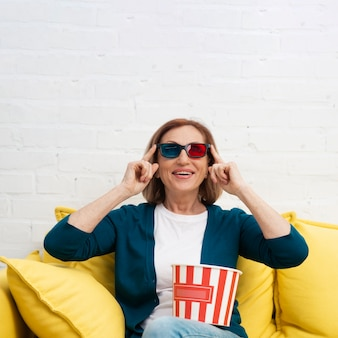 Portrait of woman with 3d glasses