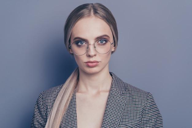 Portrait woman with glasses