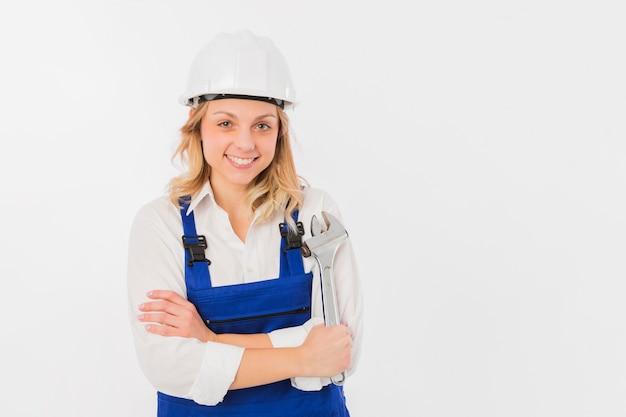 Portrait of worker woman