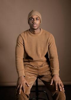 肖像画の若いアフリカ人
