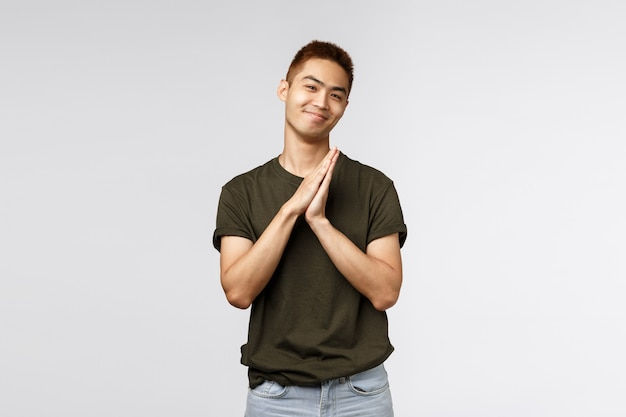 Portrait of a young asian man with a t-shirt