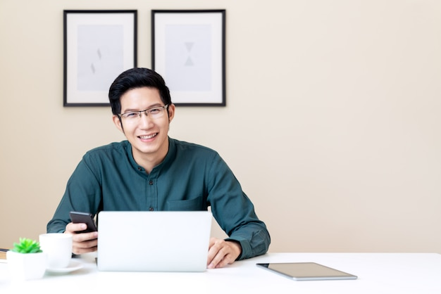 Portrait of young attractive asian businessman