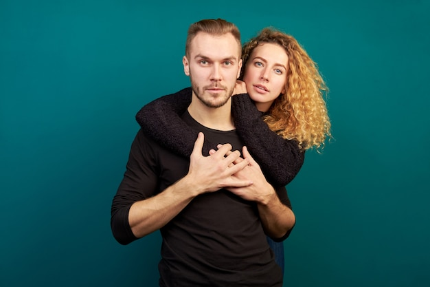 Portrait of young attractive couple.