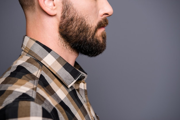 Portrait young bearded man