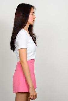 Portrait of young beautiful asian teenage girl