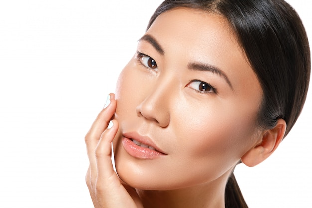 Portrait of young and beautiful asian woman