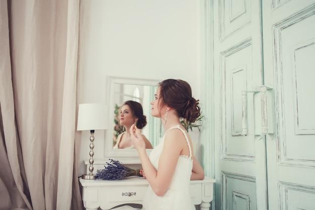 Portrait of a young bride