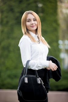 Portrait of young business lady