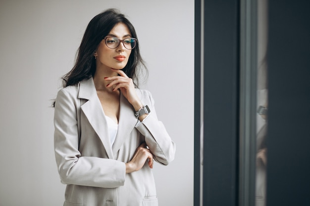 Portrait of a young business woman in office