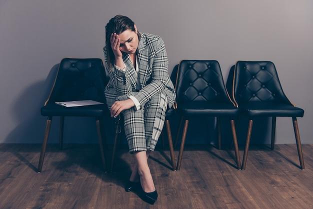 Portrait young businesswoman wearing suit