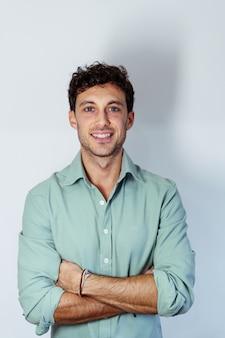 Portrait of a young caucasian entrepreneur