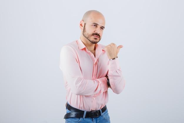 Portrait of young confident man