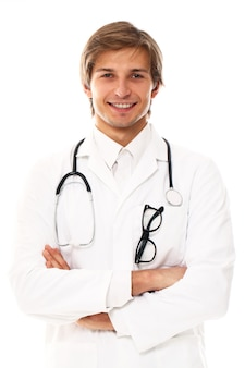 Portrait of young doctor man