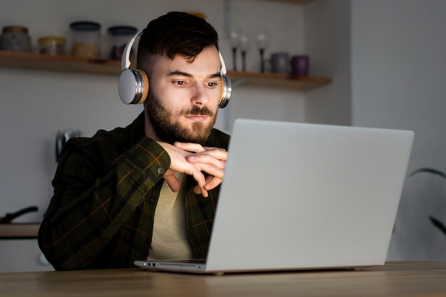 Portrait of young entrepreneur working from home