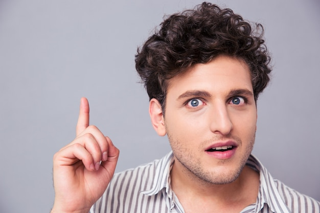 Portrait of a young man having idea