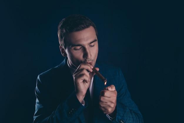 Portrait young man wearing suit
