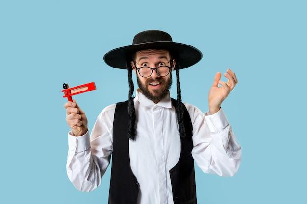Ritratto di un giovane ebreo ortodosso hasdim