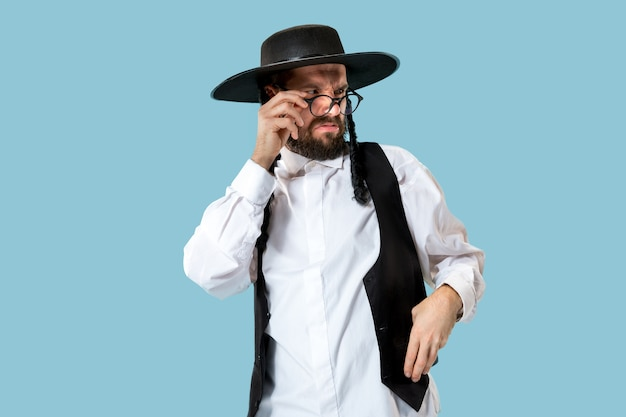 Portrait of a young orthodox hasdim jewish man