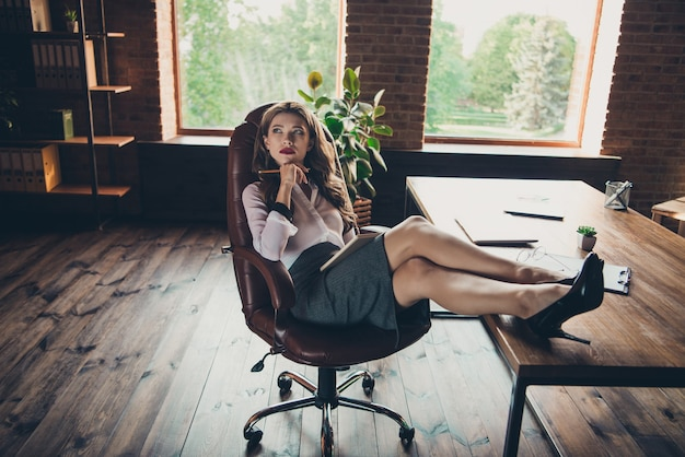 Portrait young woman at office