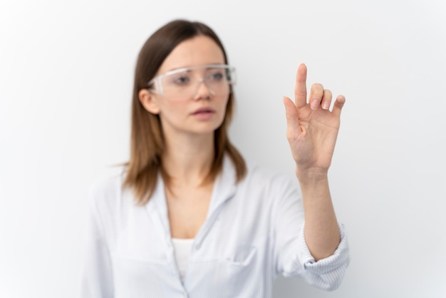 Portrait of young woman scientist