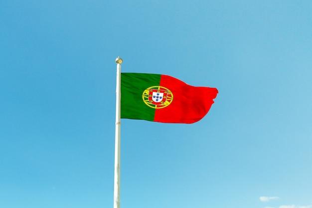 Portugal flag on the mast