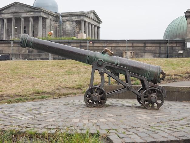 エディンバラのカルトンヒルにあるポルトガルの大砲