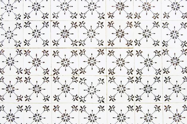 Portuguese tile house wall