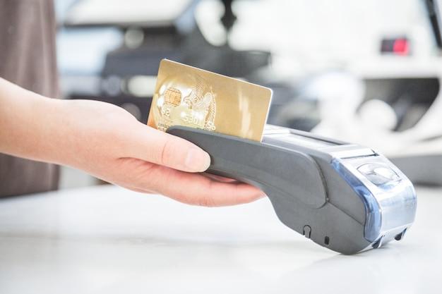 Pos credit card settlement instead of cash settlement shopping