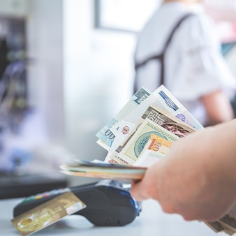 Pos credit card settlement instead of cash settlement