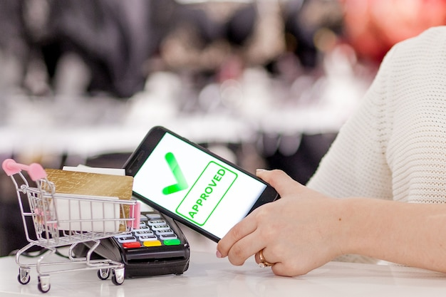 Pos-терминал, платежный автомат с мобильным телефоном