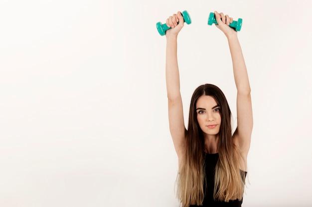 Posing at gym