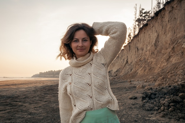 Posing woman in nature