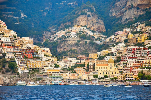 Positano, amalfi coast, campania, italy. beautiful view