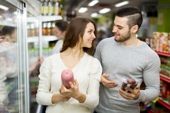Positive customers buying gammon