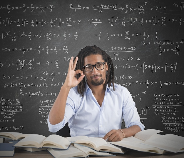 Positive male teacher