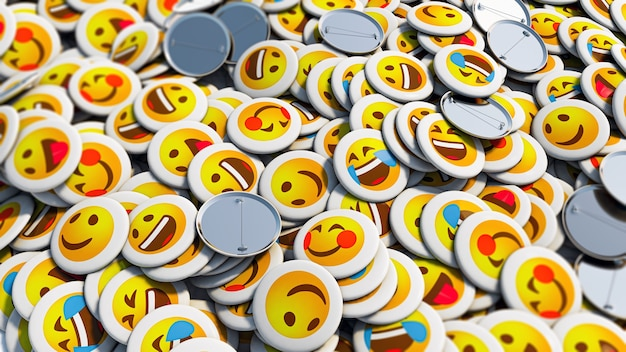 Positive smiley face pins background