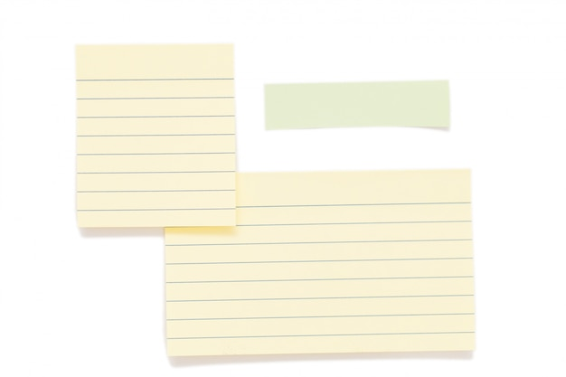 Post it papers isolated over background