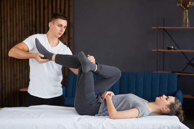 Post traumatic rehabilitation, sport physical therapy, recovery concept