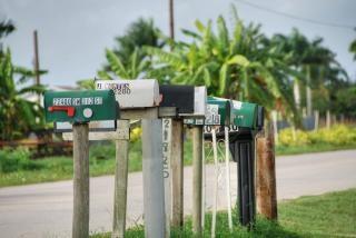 Postboxes, florida, january 2007